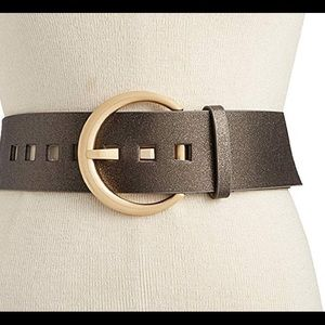 INC Oversized Crescent-Buckle Belt